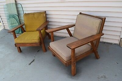 Brandt Ranch Oak Pair Of Lounge Chairs