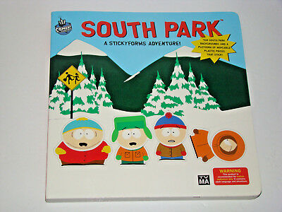 South Park Stickyforms Adventure Board Book Includes All Sticky form Figures