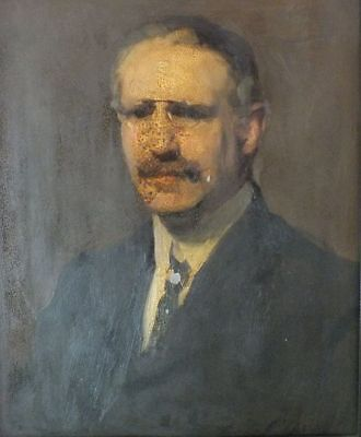 John Lavery ? Irish / British Oil On Board Indistinctly Signed Provenance Label