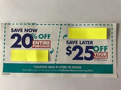 Bed Bath and Beyond 20% Off Entire Purchase & $25 off another EXP 4/1