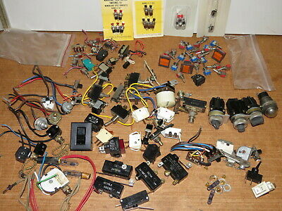 Large Lot of miscellaneous electric electronic switches- new, used, vintage