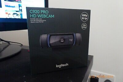 Logitech C920 HD Pro Skype Webcam Full HD 1080p Dual Stereo Audio Mics Black BN