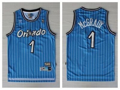 more photos 45835 61b01 TRACY MCGRADY #1 Orlando Magic Jersey Blue Throwback White ...