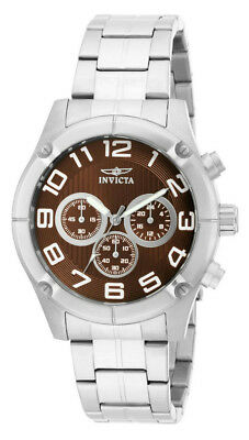 Invicta Specialty 15369 Men's Round Brown Chronograph Analog Gold Tone Watch