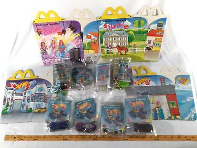 McDonalds 1996 Barbie Hot Wheels Complete Set 8 Toys International & All Boxes