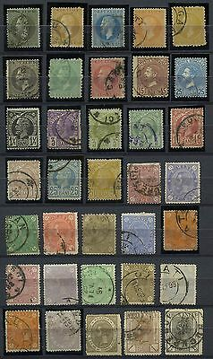 ROMANIA 1872-1889 Lot of 35 Different Used Stamps CV$186.00