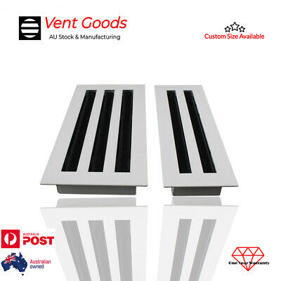 White 2 & 3 Slot Linear Bar Grille Diffuser Outlet Vent Ducted Air Conditioner