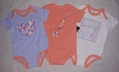 5156bc108 Nike Baby Girl 9-12M 9 12 Month 3 Pack Bodysuits Outfits Infant Set NWT