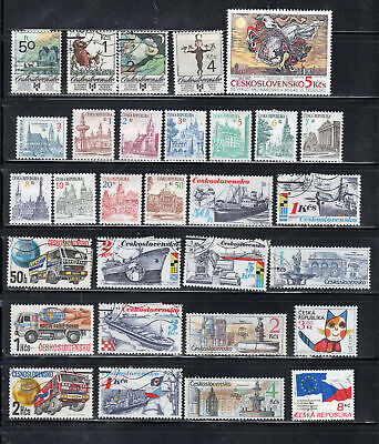 Czechoslovakia  Stamps Canceled Used & Mh Lot 39211