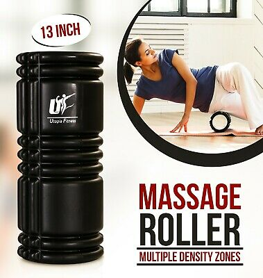 Massage Foam Roller High Density Muscle Therapy Exercise Gym Yoga 13 Inches