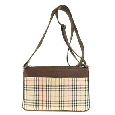 77c3028f6e4 BURBERRY THE 1983 Check Link Chain Shoulder Bag With Leather Trim In ...
