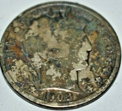 1908-O Barber Half Dollar United States Coin Toned