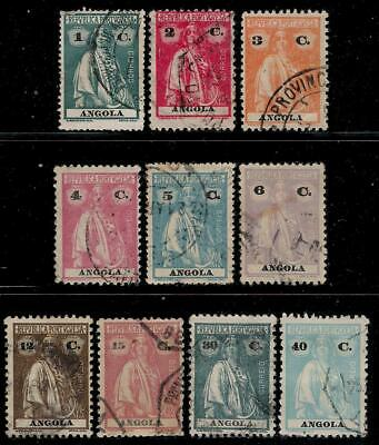 Portugal Colony ANGOLA 1913 - 1926 Old Stamps - Ceres