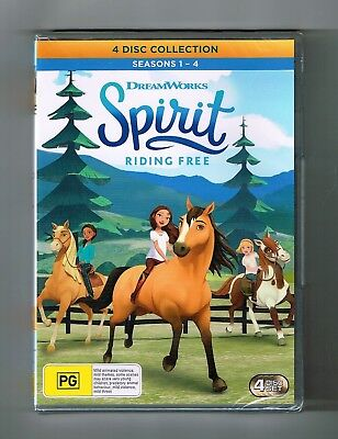 Spirit - Riding Free : Seasons 1-4 Dvd 4-Disc Collection Brand New & Sealed