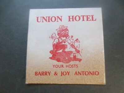 1only BALLARAT Bertie Brewery / Union Hotel 1970,s Issue collectable COASTER