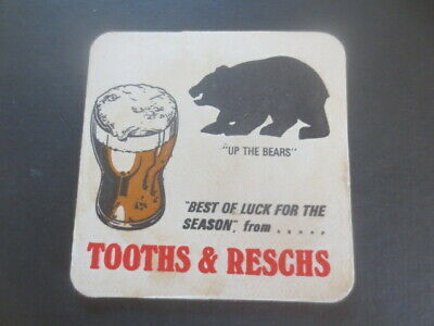 1 only TOOTH,S & RESCHS Brewery,NORTH SYDNEY BEARS 1974 Coasters MINT