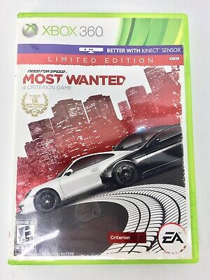 Need for Speed: Most Wanted Limited Edition (Microsoft Xbox 360, 2012) EA