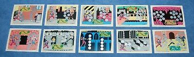 1989 Topps Nintendo DOUBLE DRAGON Scratch-Off Game FULL SET Screen Cards 1-10