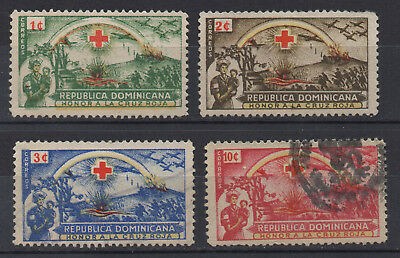 Dominican Republic - Red Cross - Used Set