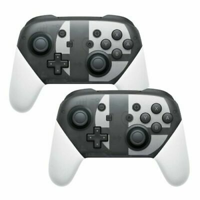 2 Pcs Wireless Pro Controller Gamepad für Nintendo Switch Super Smash Bros 1 Neu