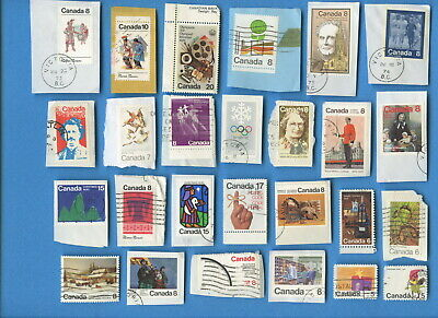 Canada postage stamps 1970-1989 200 different on/off paper [sta2333]