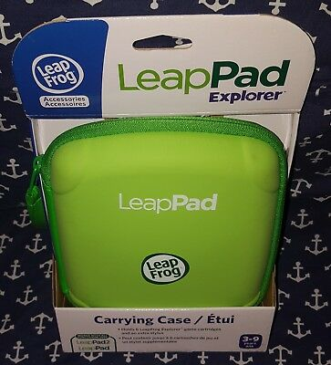 NEW LeapFrog LeapPad LeapPad 2 Explorer Carrying Case Holds 6 Cartridges Green