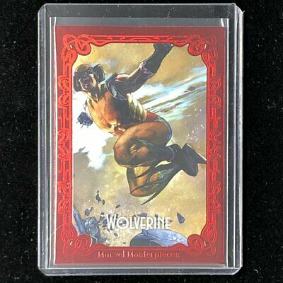 2018 Marvel Masterpieces WOLVERINE Portraits Canvas Red /25