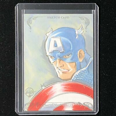 2018 Marvel Masterpieces CAPTAIN AMERICA Mitch Ballard Sketch Card 1/1