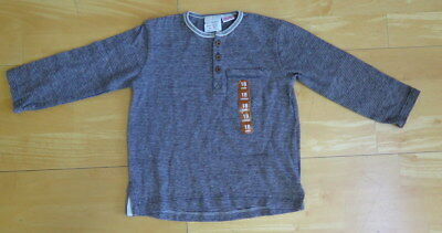 NEW Pretty Brown stripes Long sleeves Boy Top from Zara - Size 12- 18 Months