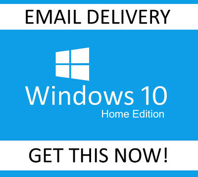 Microsoft Windows 10 HOME 32/64bit Genuine License Key Product Key Serial Code