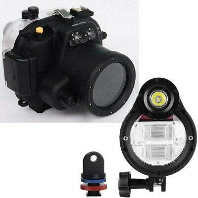 Meikon 50m Waterproof Diving Case Skin + Strobe Flash For Canon EOS 550D 18-55mm