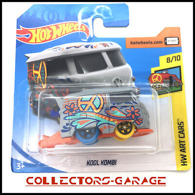 Hotwheels 2018 Volkswagen Kool Kombi - Hw Art Cars 8/10 Hot Wheels 1/64 1:64