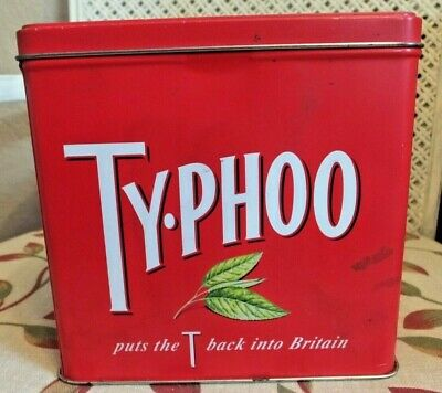 Vintage Typhoo Tea Caddy Storage Tin Puts the T Back into Britain Kitchenalia