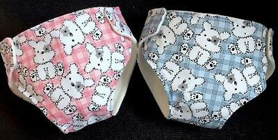 2 Dolls Nappies Fits Baby Born Annabell Luvabella 41-46cm Dolls Clothes 16-18""