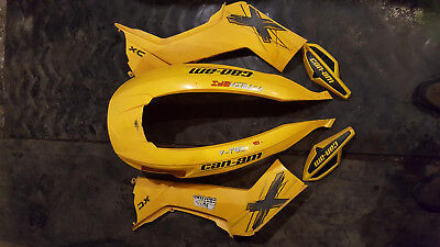 Can-am Renegade XXC 07-11 Yellow Plastics Fenders hand Guards and seat cover!!!!