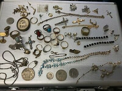 Job Lot Vintage & Modern rings necklaces Jewellery + Gold silver scrap or items