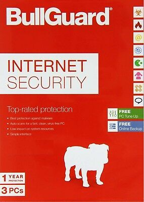 BullGuard Internet Security 2019  3 PCs, 1 Year LATEST DOWNLOAD  (NO DVD)