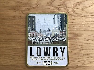 Hydes Brewery Lowry Beer Pump Clip Art Theme