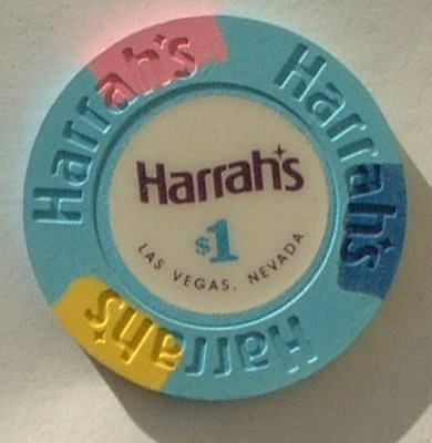 Harrah's Casino Chip $1  Las Vegas Nevada Casino New Condition