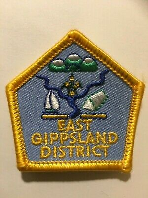 AUSTRALIA. VICTORIA. EAST GIPPSLAND DISTRICT SCOUT BADGE. small ISSUE.