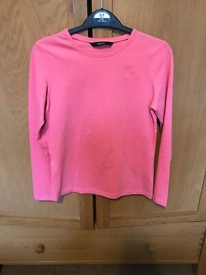 New Girls George Long Sleeved Pink Top Age 8-9 Years