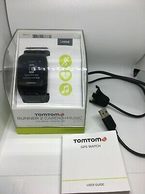 TomTom Runner 2 Cardio + Music GPS sportswatch, Black, size Large