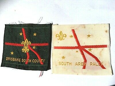 AUSTRALIA. QUEENSLAND. 1960's BRISBANE SOUTH COUNTY & AREA RALLY SCOUT BADGES.