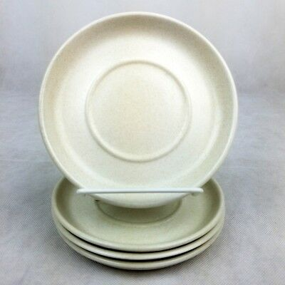 """4 Midwinter Stonehenge Saucer Plates 6 1/4"""" England Oven To Table Beige Mist"""