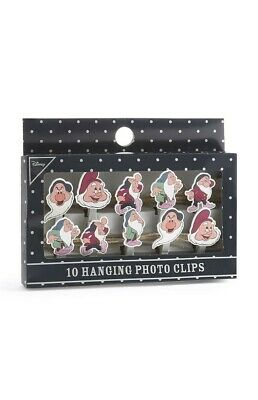 Disney Snow White And The Seven 7 Dwarfs Hanging Photo Clips
