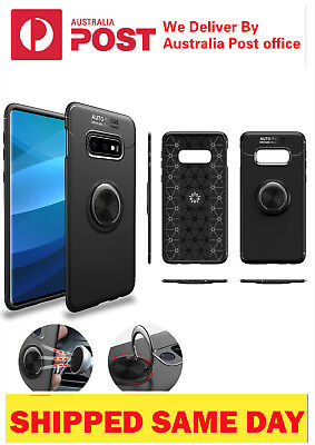 For Samsung Galaxy S10 Plus S8 S9 N8 Luxury Magnetic 360* Ring Holder Phone Case
