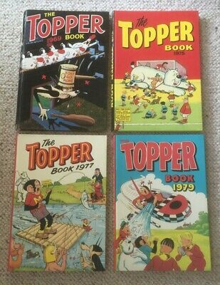 The Topper Book 1969, 1975, 1977 and 1979 most in Very Good Condition