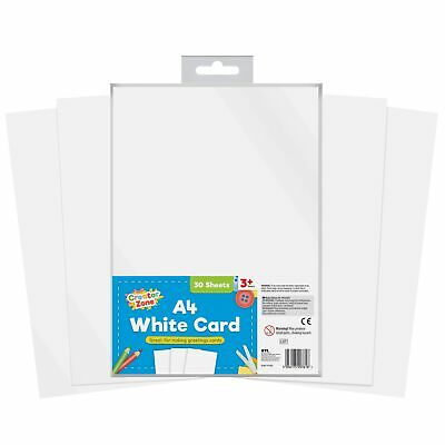 30 x Thick White 100 GSM A4 Card Making Sheets Art & Craft Printer Copier Smooth