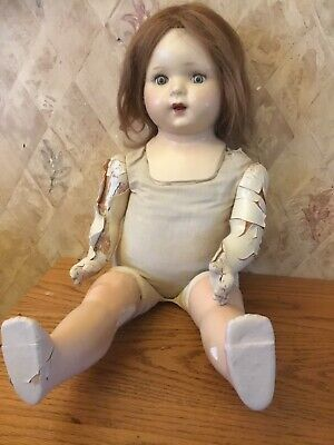 """24"""" composition doll for parts or repair Crier Sleepy Eyes"""