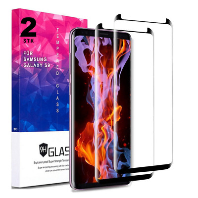 2x 6D Panzerglas Folie für Samsung Galaxy S9 360 Curved Full Display Schutz OEM